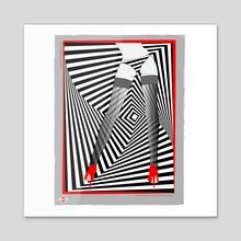 Stockings 01 - Acrylic by Joanny C. Chavarria