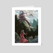 In the Land of the Giants - Art Card by Thorbear Art