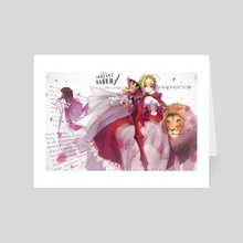 Fate/Grand Order - Nero Claudius (with Lion) - Art Card by mins