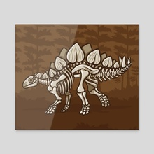 Extinct Lil' Stegosaurus - Acrylic by Jennifer Smith