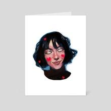 selfie II - Art Card by Veronika Gorbatenko