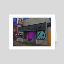 SE 63rd & Holgate - Portland, Oregon - Art Card by Jason Pedegana