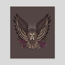 Familiar: Great Grey Owl - Canvas by Reimena Yee
