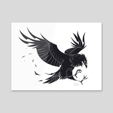 Crow style - Acrylic by Lorene BARIOZ