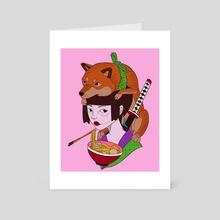Akita - Art Card by Luca Trovati