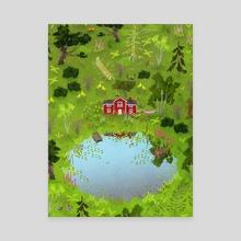 dream house - Canvas by Lara Paulussen
