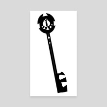 Evil Eye Keychain - Canvas by Cashmere Morley