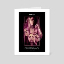 Orphan Black - Art Card by Carina Tous