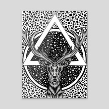 Automatica Deer - Acrylic by Jacque Tiongco