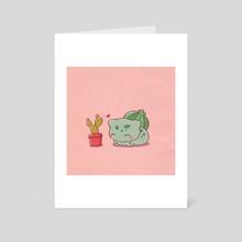 Bulbasaur x Cactus - Art Card by Chowlie
