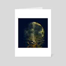 melting moon - Art Card by Kristian Leov