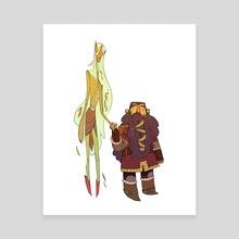 Elf/Dwarf Romance - Canvas by Noelle Stevenson