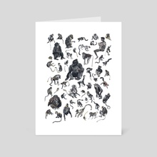 Fifty Primates - Art Card by Alison George