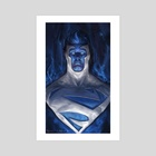 Energy Superman - Art Print by Sebastian Ciaffaglione