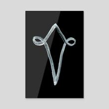 Alchemical Symbols - Silver Four Inverted - Acrylic by Wetdryvac WDV