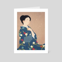 Falling plum blossoms - Art Card by Sai Tamiya