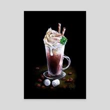Irish Coffee (Classic Cocktails Mini Season #4 - Winter Edition) - Canvas by Anna Suslina