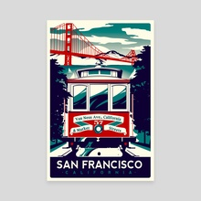 san francisco cable car california - Canvas by matt schnepf