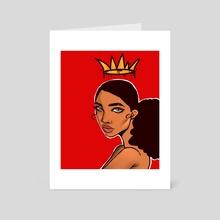 Golden Crown  - Art Card by Andreia Cheong