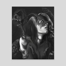 Demon woman - Canvas by Efrain Sosa