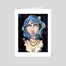 Galaxy Goddess - Art Card by Brittany  Moselina