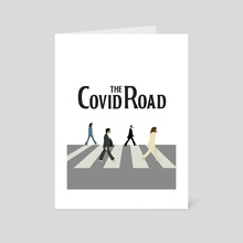 Covid Road, new normal - Art Card by Chillstudio Katarzyna Rzedzian
