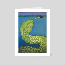 The Ocean Wants You To Rise (2/4) - Art Card by Sara Eileen Hames