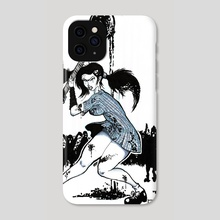 Mindless zombies - Phone Case by Miguel Guzmán