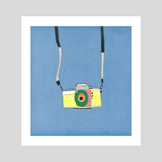 Yellow Camera by Tanya Doodles