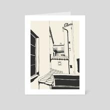 monochrome rooftops - Art Card by John Alberse