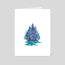 Winter Forest - Art Card by Carly A-F