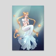 Princess Serenity Mermaid - Acrylic by Katherine Lobo