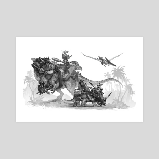 Dino Riders Tribute by Shaun Keenan