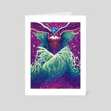 Cosmic Rabbit - Art Card by Brock Hofer