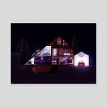 House Escape - Canvas by Kristian Duffy