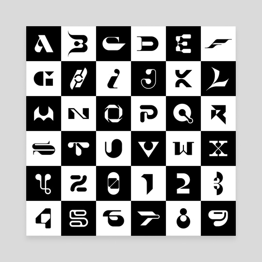 36 days of type #07 vectors by Martin Naumann