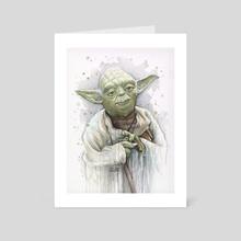 Yoda Portrait - Art Card by Olga Shvartsur