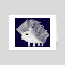 Hedgehog - Art Card by Brontosaurus Art