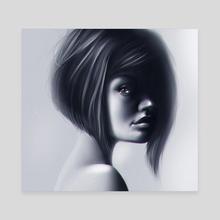 Gray - Canvas by Dato kiknavelidze