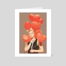 Red Hearts - Art Card by Alyssa Nicolas