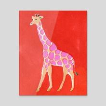 Giraffe - Acrylic by Allie Runnion