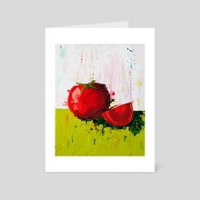 Plump Red Tomato - Art Card by Eric Buchmann