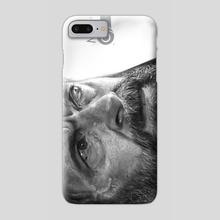 Logan (Portrait B&W) - Phone Case by Daniel Monroe