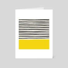 Sunshine x Stripes - Art Card by Leah Flores