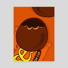 Reese's Peanut Butter Cups - Canvas by Pineapple Art