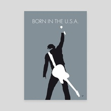 No017 MY Bruce Springsteen Minimal Music poster - Canvas by Chungkong
