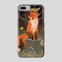 fox in the night forest - Phone Case by Lara Paulussen
