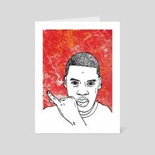 Jay Z - Art Card by Sam Haidemenos