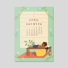 Calendar Print - April 2020 - Acrylic by Karina Perez