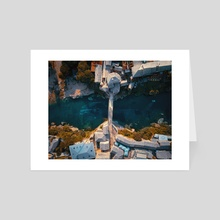 Sharks Old Bridge  - Art Card by AlemCoksa